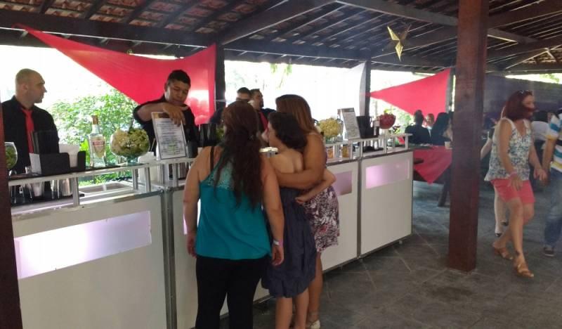 Bar de Coquetéis para Casamento Simples Grajau - Coquetelaria para Festa
